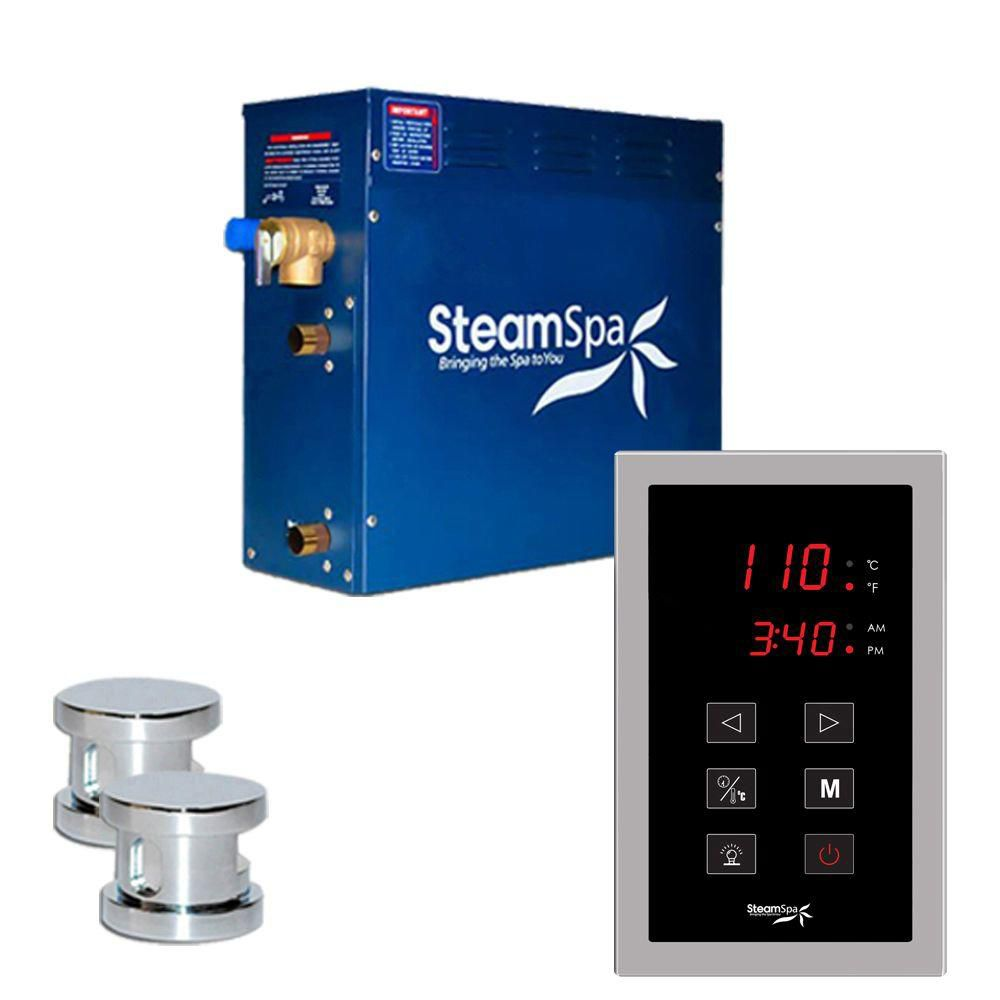 Oasis 10.5kw Touch Pad Steam Generator Package in Chrome