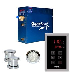 Steamspa Indulgence 10.5kw Touch Pad Steam Generator Package in Chrome