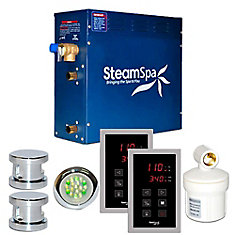 Royal 10.5kw Touch Pad Steam Generator Package in Chrome