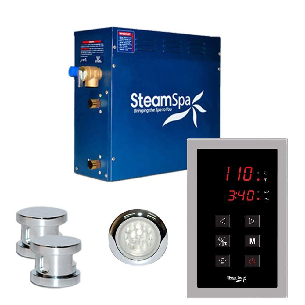 Indulgence 12kw Touch Pad Steam Generator Package in Chrome