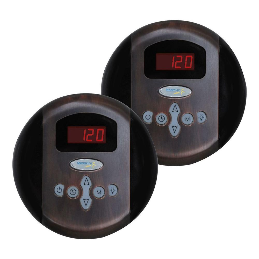 Programmable Dual Control Panels in Oil Rubbed Bronze