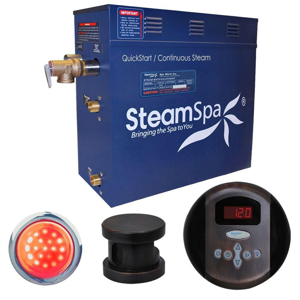 Steamspa Indulgence 4.5kw Steam Generator Package in Oil Rubbed Bronze