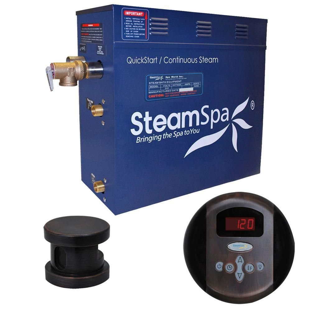 Oasis 7.5kw Steam Generator Package in Oil Rubbed Bronze
