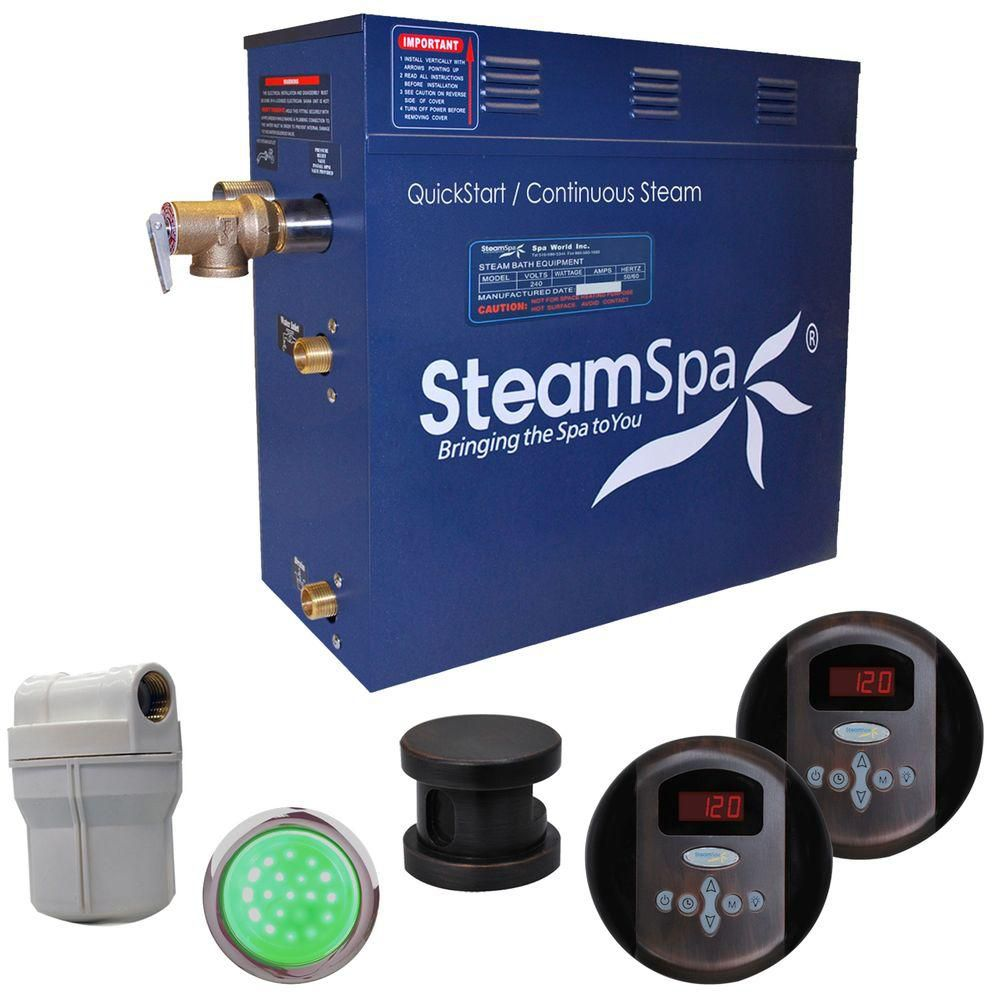 Royal 9kw Steam Generator Package in Oil Rubbed Bronze