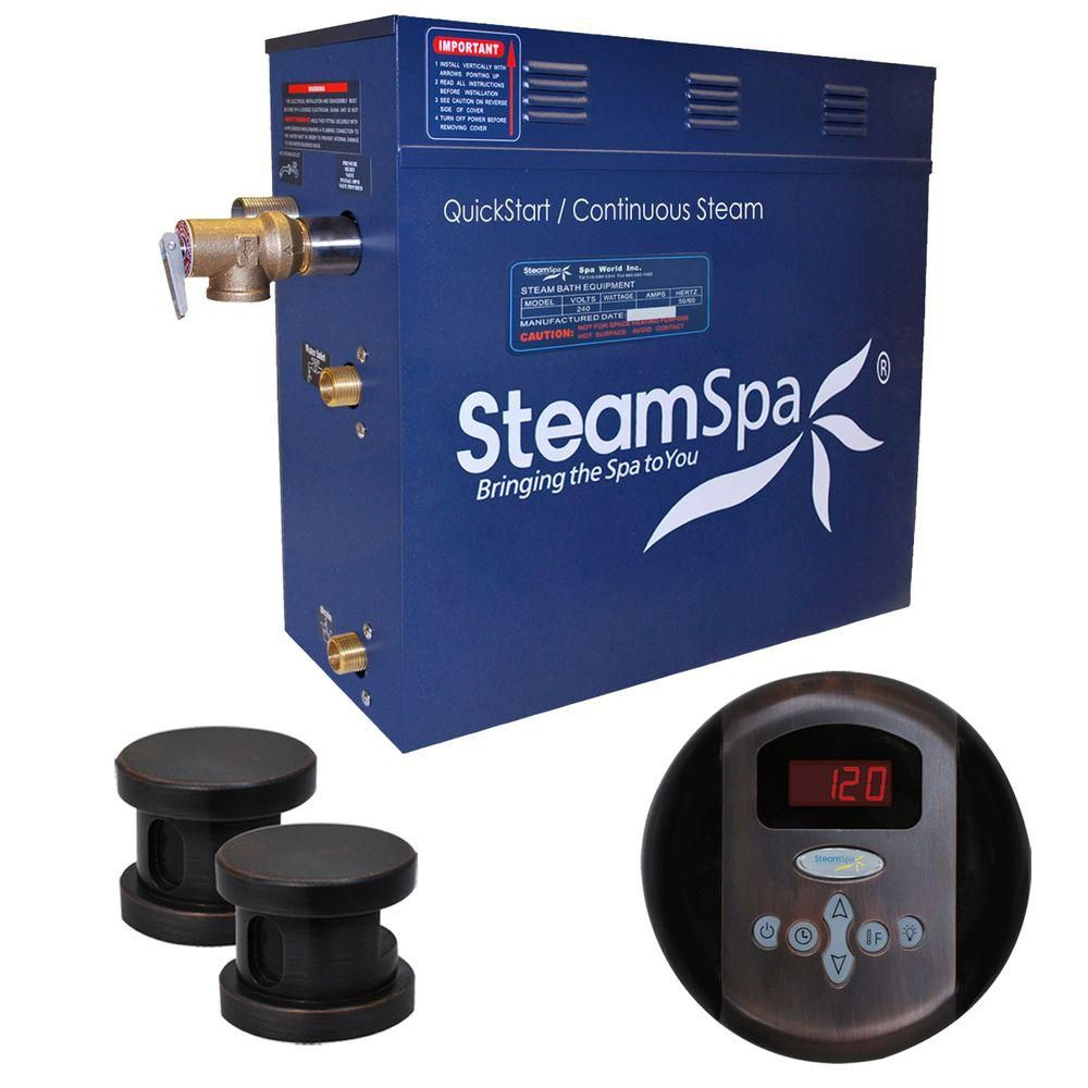 Oasis 10.5kw Steam Generator Package in Oil Rubbed Bronze