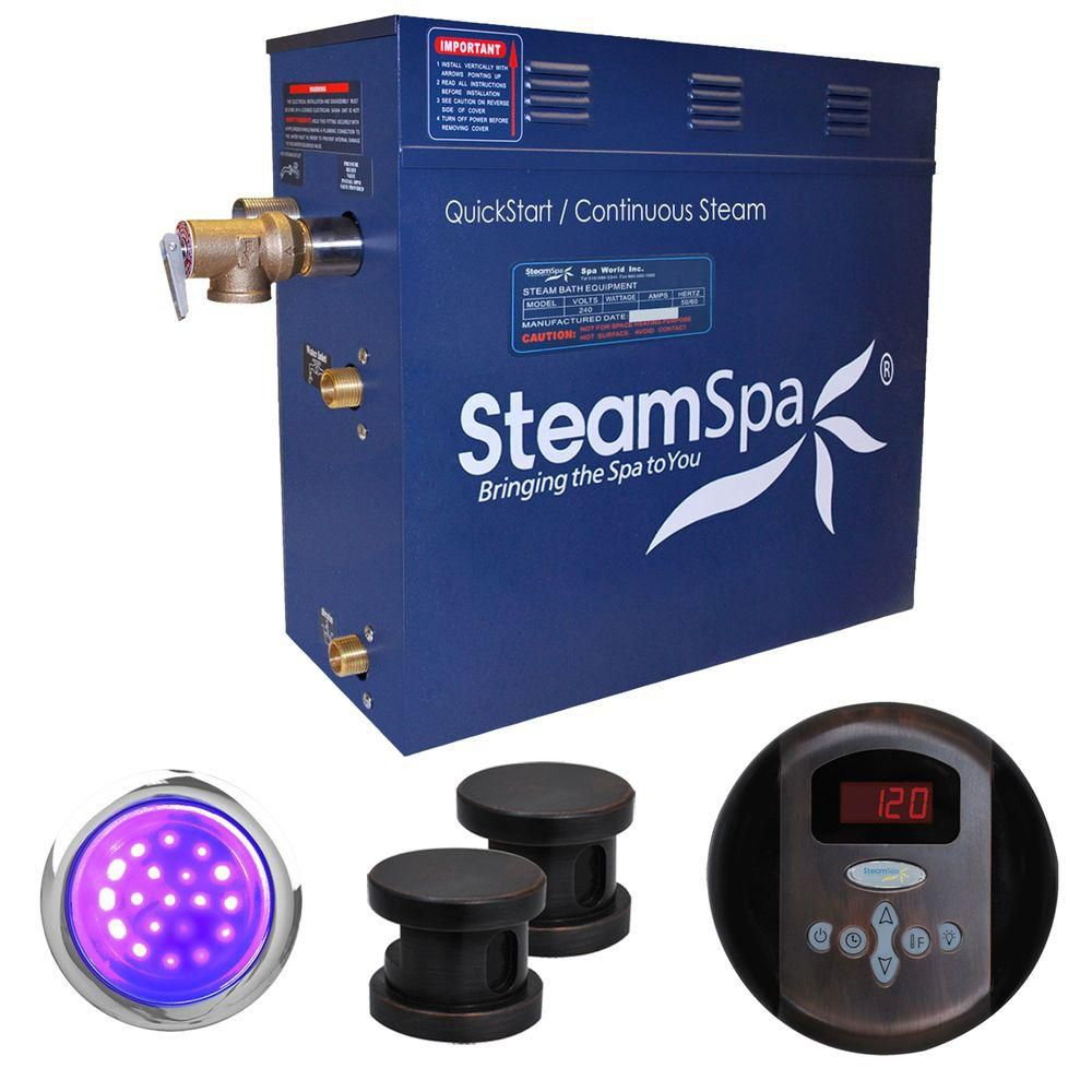 Indulgence 12kw Steam Generator Package in Oil Rubbed Bronze