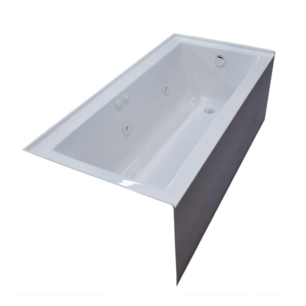 Amber 5 Feet Front Skirted Whirlpool Bathtub with Right Drain