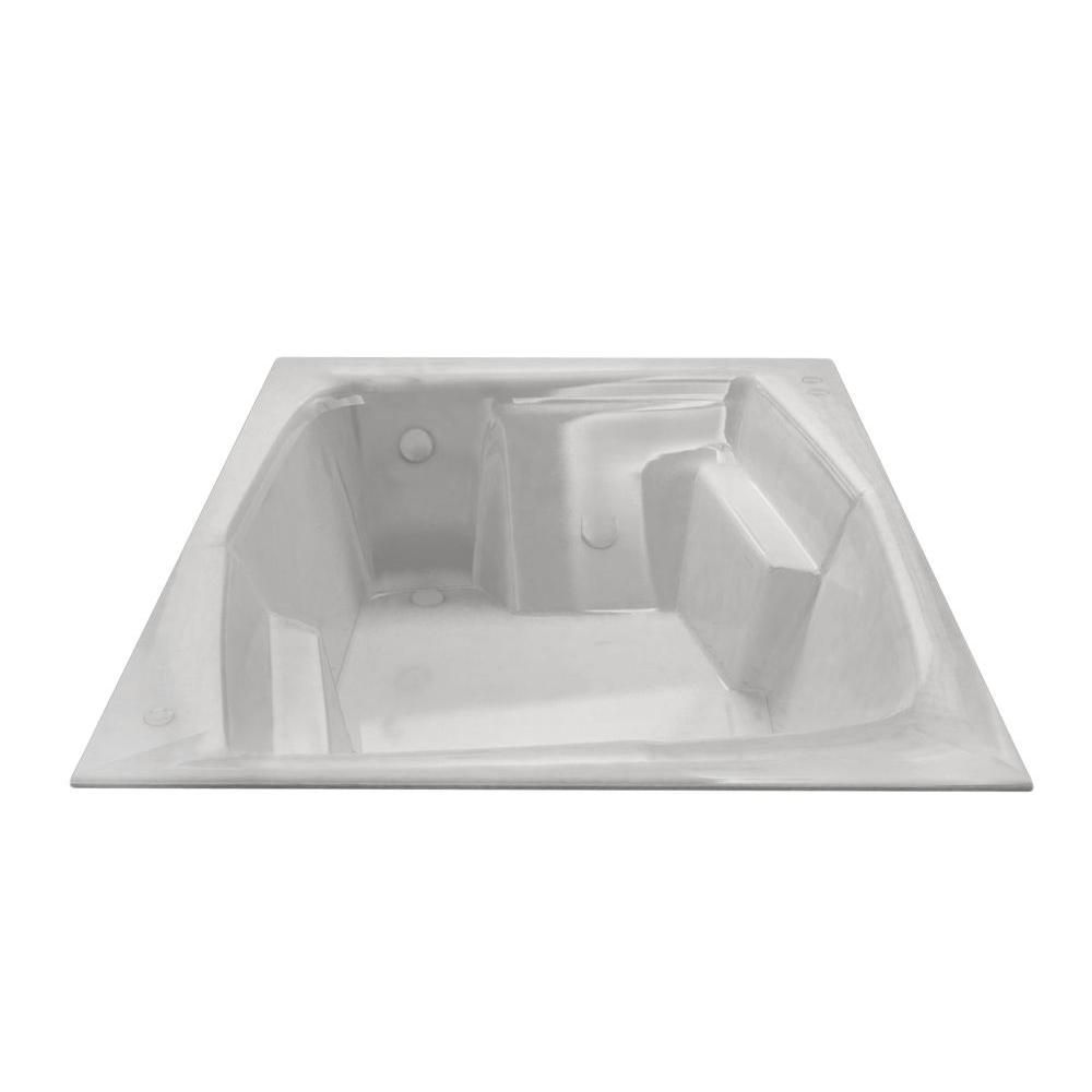 Amethyst 6 Feet Rectangular Soaker Bathtub