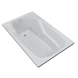 Universal Tubs Coral 5 Ft. Right Drain Walk-In Air Bathtub in White