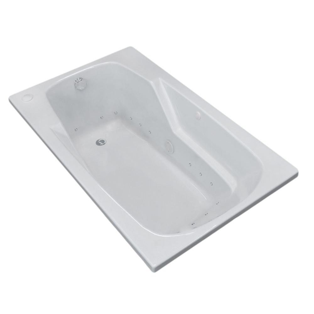 Universal Tubs Coral 5 ft. Acrylic Drop-in Right Drain Rectangular Air Bathtub in White