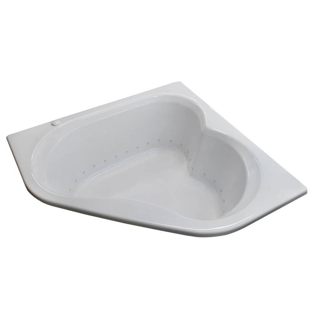 Beryl 5 Feet Corner Air Jetted Bathtub