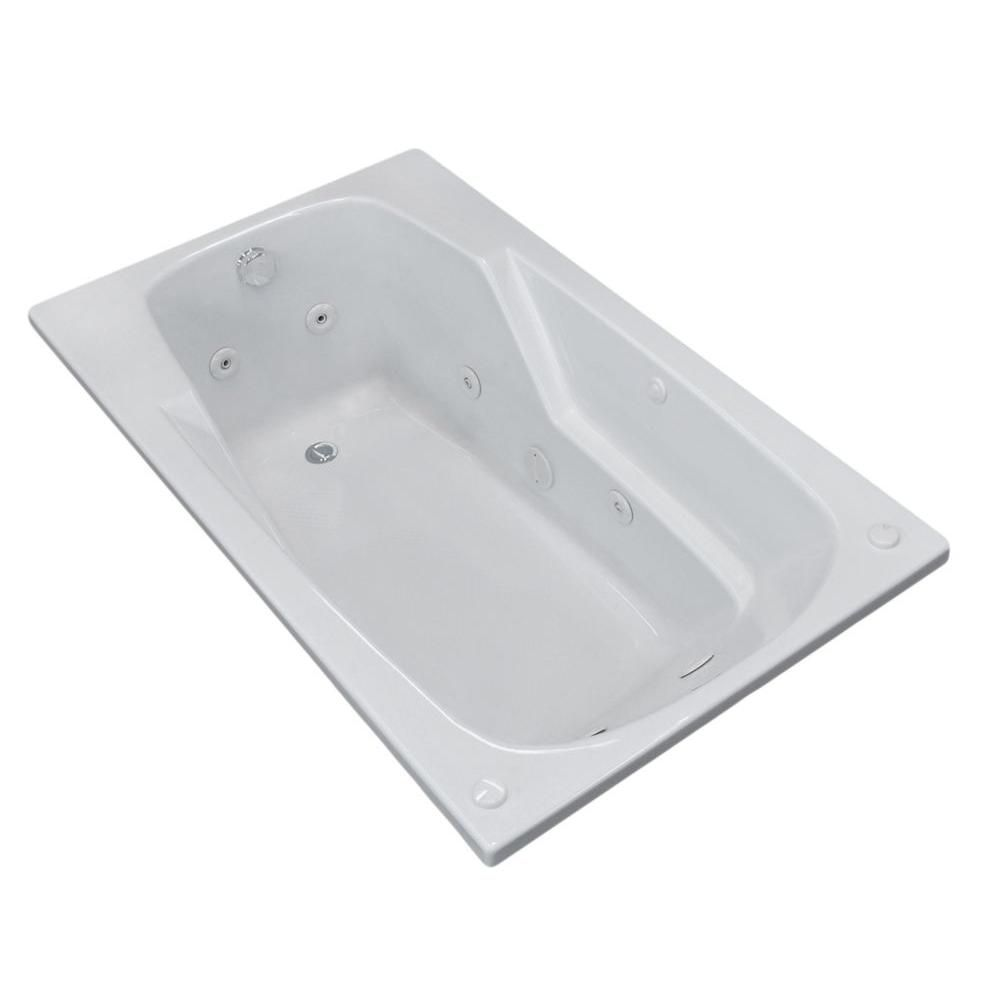 Coral 6 Feet Rectangular Whirlpool Jetted Bathtub