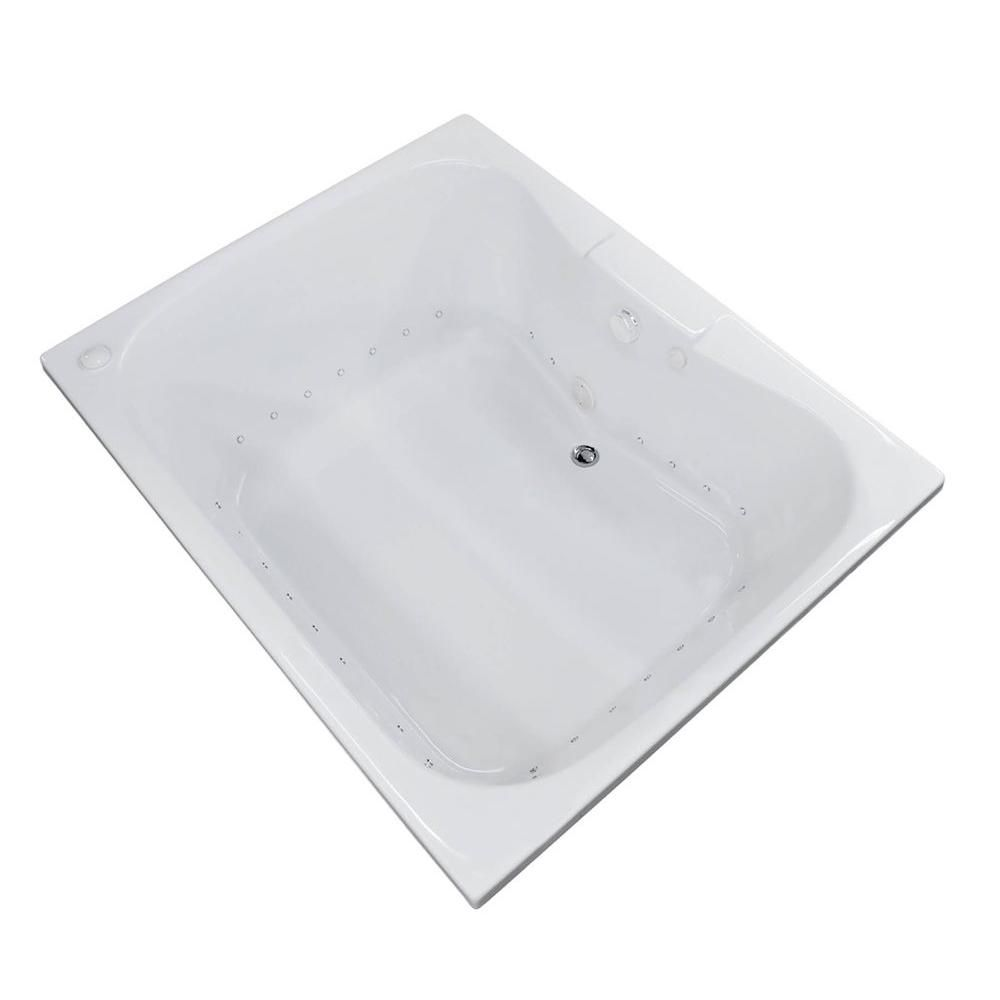 Rhode 47.25 x 59 Baignoire De Massage Par Jets D'Air Rectangulaire