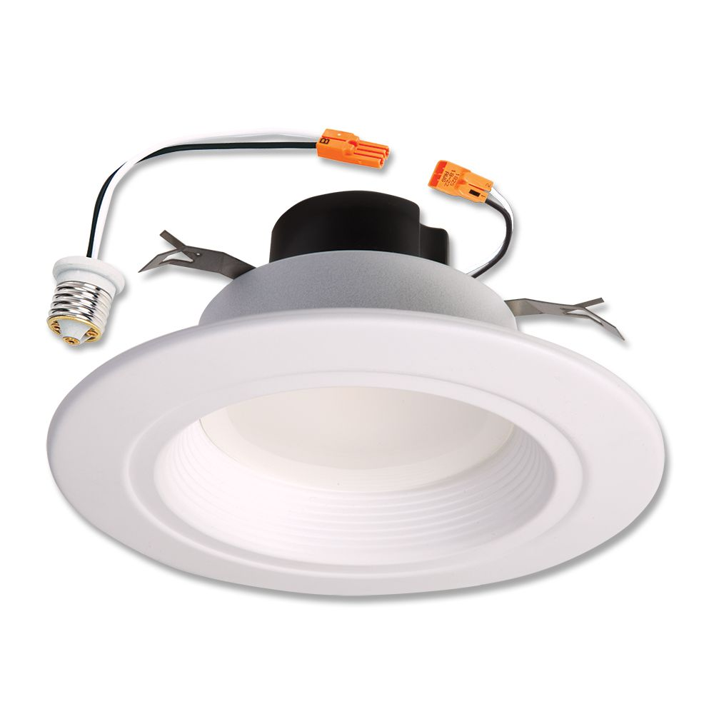 5 Inch./6 Inch. LED Retrofit Baffle Trim, White, 4000K