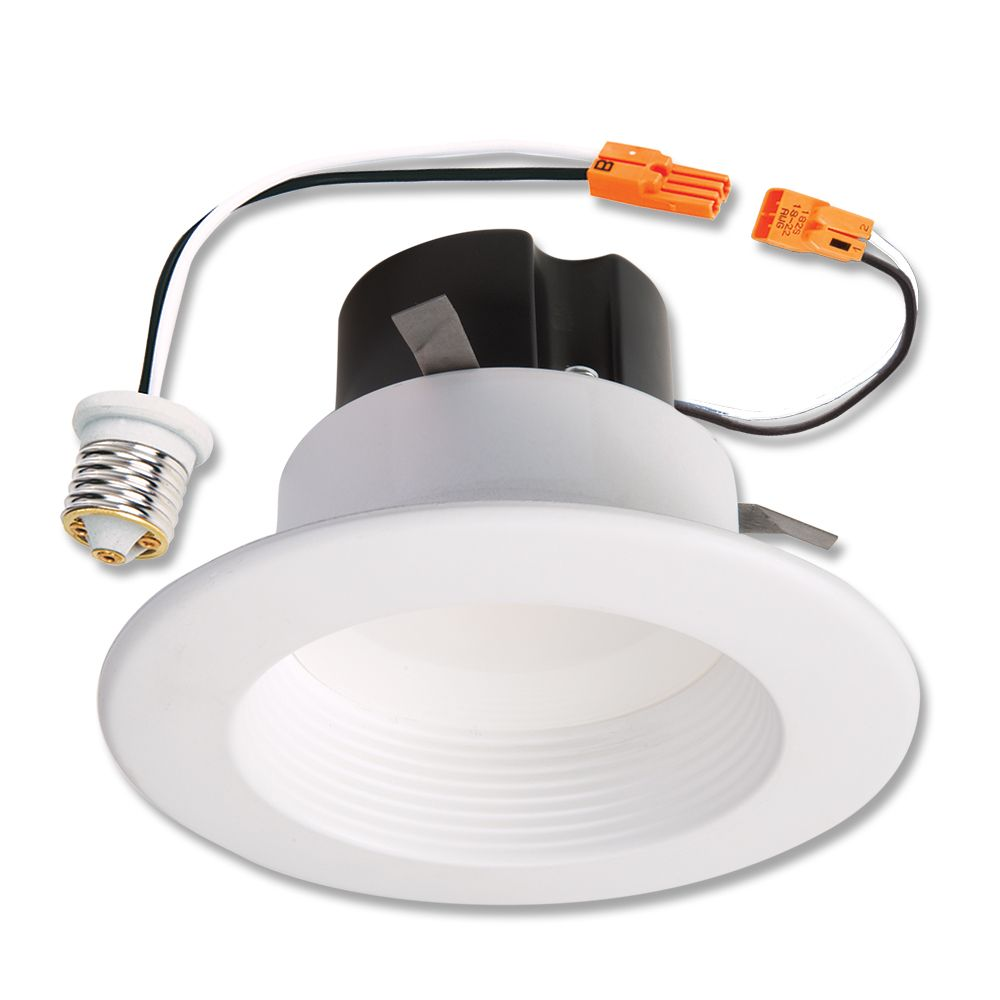 Halo 4 Inch. LED Retrofit Baffle Trim, White, 4000K - ENERGY STAR®