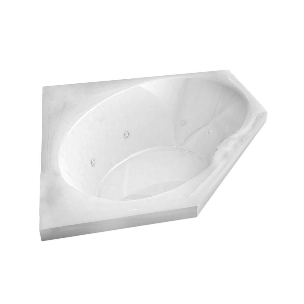 Mali 5 Feet Corner Whirlpool Jetted Bathtub
