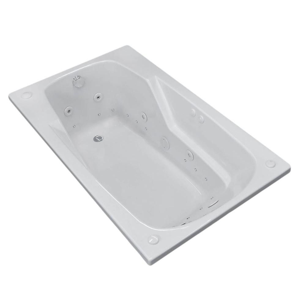 Coral 5 Feet Rectangular Air and Whirlpool Jetted Bathtub