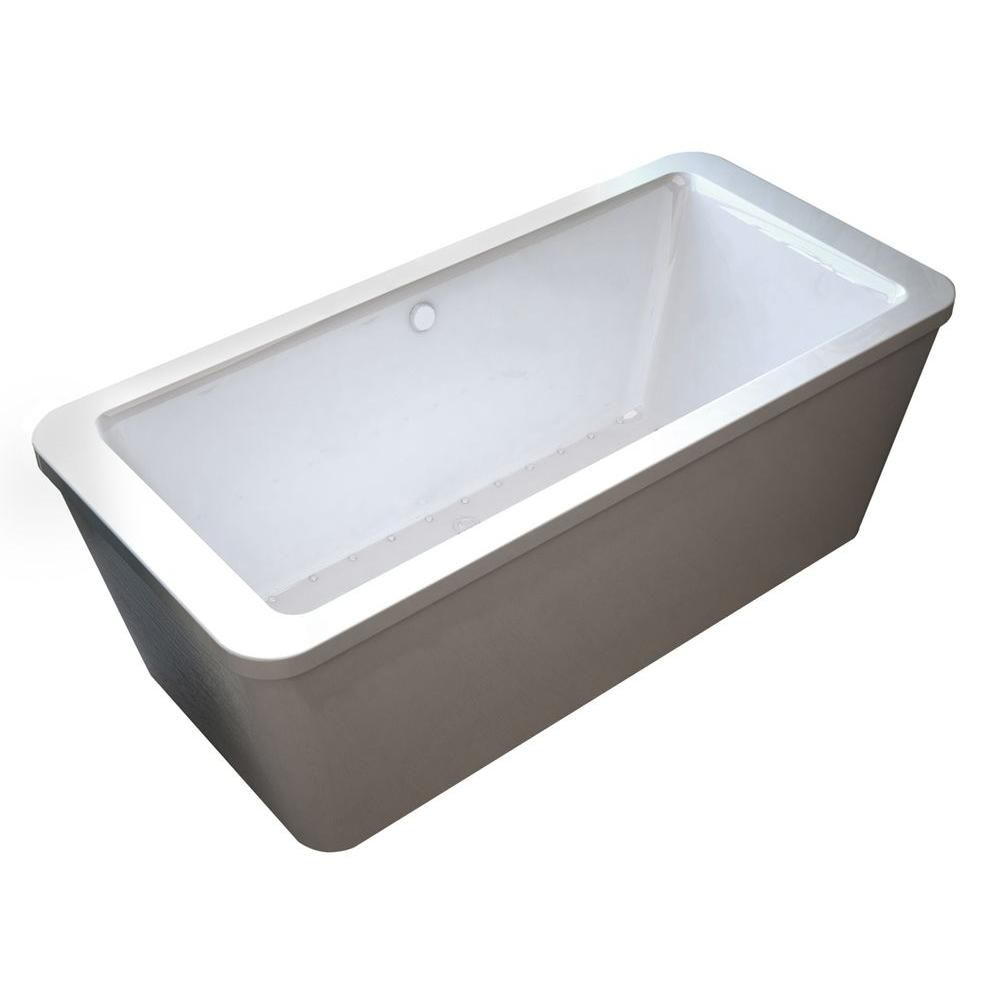 Carnel 5 Feet 6-Inch Rectangular Freestanding Air Jetted Bathtub