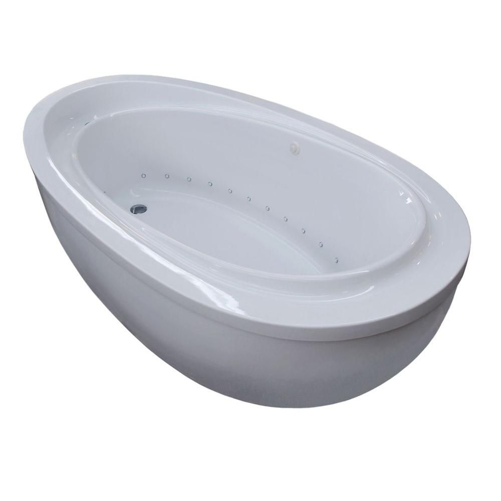 Universal Tubs New Town 5 Feet Acrylic Drop-in Whirlpool Bathtub in White