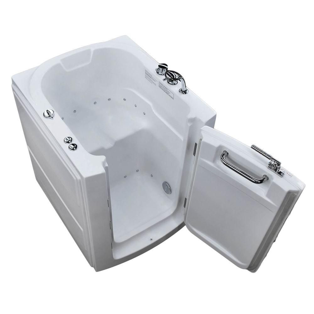 3 Feet 2-Inch Walk-In Whirlpool Bathtub in White