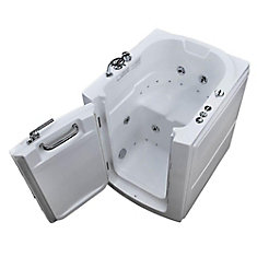 3 ft. 2-inch. Right Drain Walk-In Whirlpool and Air Bathtub in White