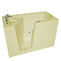 Universal Tubs 5 ft. Left Drain Walk-In Air Bathtub in Biscuit