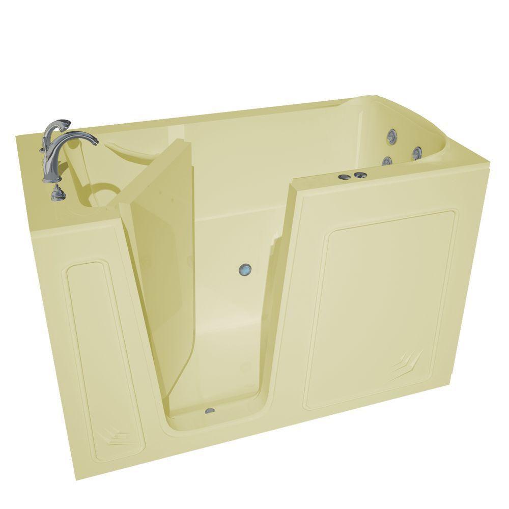 5 Feet Walk-In Whirlpool Bathtub in Biscuit