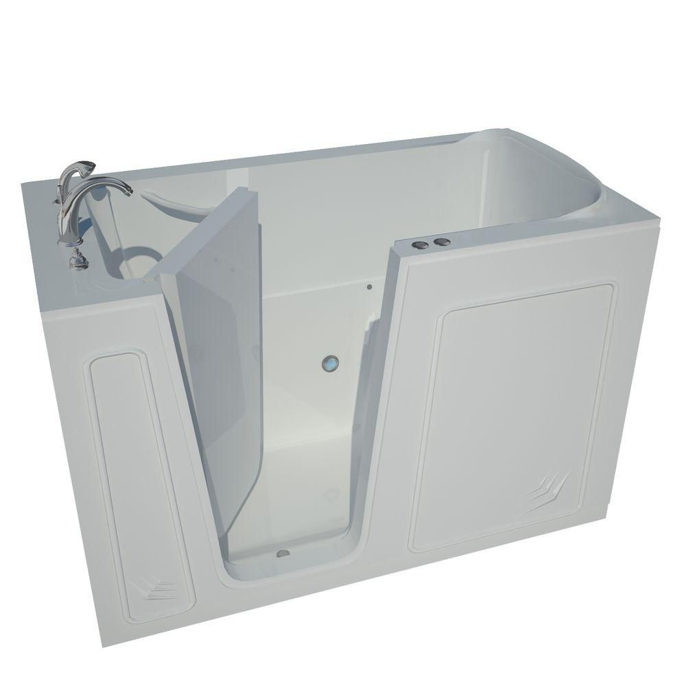 5 Feet Walk-In Whirlpool Bathtub in White