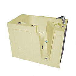 Universal Tubs 4 ft. 4-inch Right Drain Walk-In Air Bathtub in Biscuit
