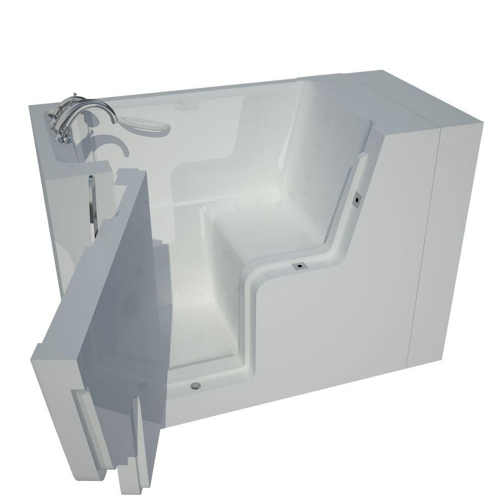Universal Tubs 4 Feet 5-Inch Wheelchair Accessible Walk-In Non Whirlpool Bathtub in White