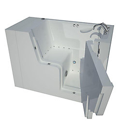 Universal Tubs 4 ft. 5-inch Wheelchair Accessible Right Drain Walk-In Air Bathtub in White