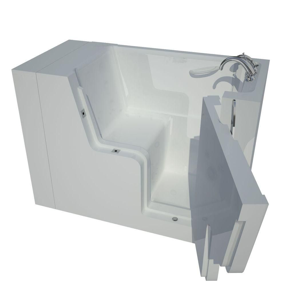 4 Feet 5-Inch Wheelchair Accessible Walk-In Non Whirlpool Bathtub in White