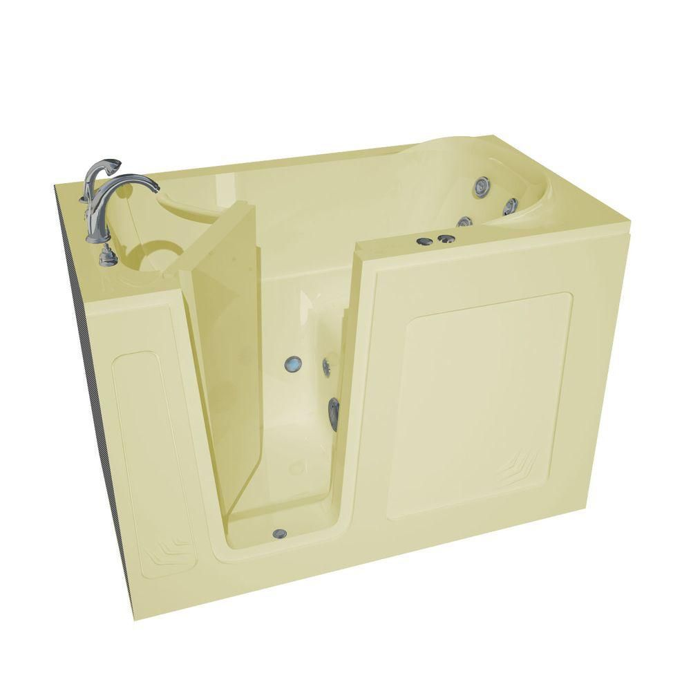 4 Feet 6-Inch Walk-In Whirlpool Bathtub in Biscuit