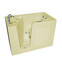 Universal Tubs 4 ft. 6-inch Left Drain Walk-In Whirlpool Bathtub in Biscuit