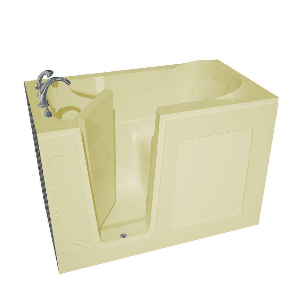 4 Feet 6-Inch Walk-In Non Whirlpool Bathtub in Biscuit