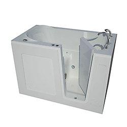 Universal Tubs 4 ft. 6-inch Right Drain Walk-In Air Bathtub in White