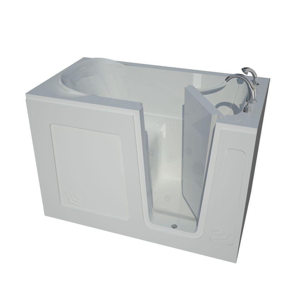 4 Feet 6-Inch Walk-In Non Whirlpool Bathtub in White