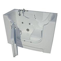 5 Ft. Wheelchair Accessible Left Drain Walk-In Whirlpool Bathtub in White