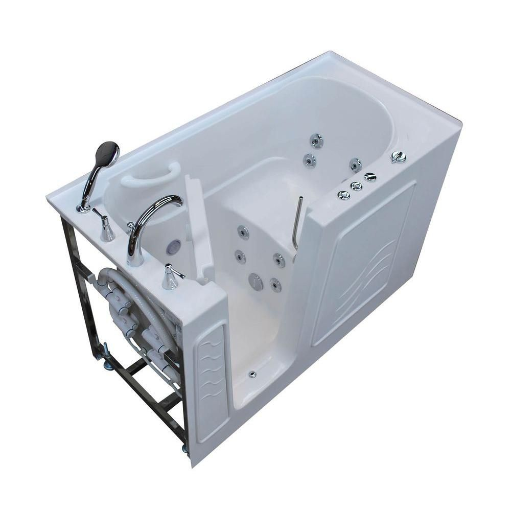 30 X 54 Left Drain White Air Jetted Walk In Bathtub HD3054LWA In Canada Can