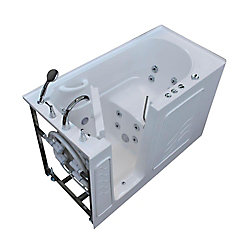 Universal Tubs 5 ft. Left Drain Walk-In Whirlpool Bathtub in White