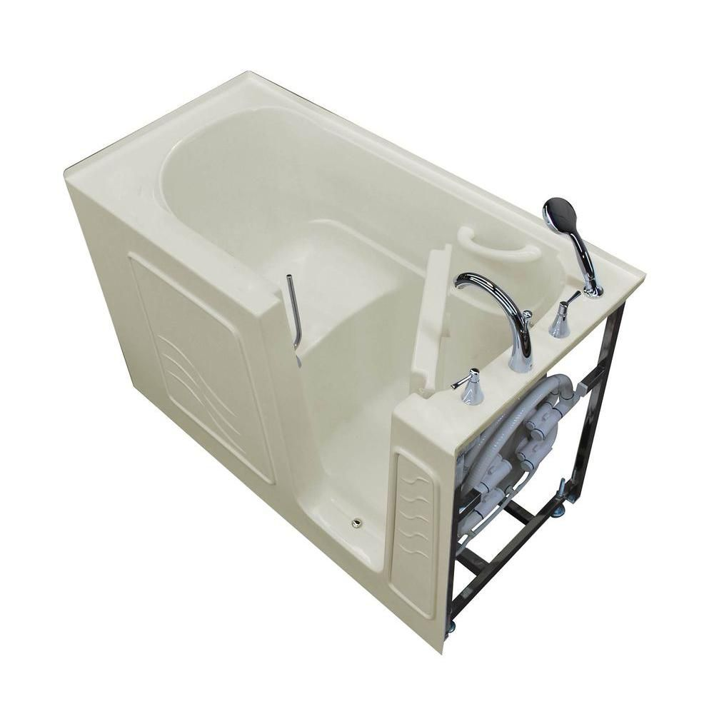 30 x 60 Right Drain Biscuit Soaking Walk-In Bathtub HD3060WIRBS Canada Discount