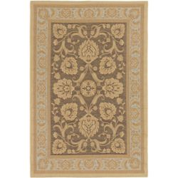 ECARPETGALLERY Versailles Brown 6 ft. 4-inch x 9 ft. 1-inch Rectangular Area Rug