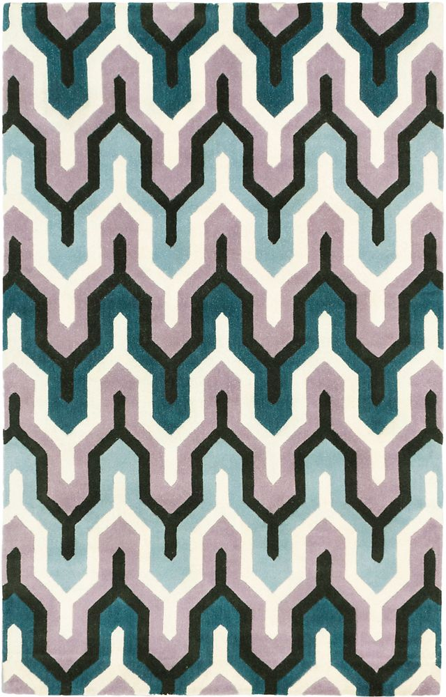 Handmade Stella Cream Turquoise Rug - 5 Ft. x 8 Ft. 0 In. 133078 Canada Discount