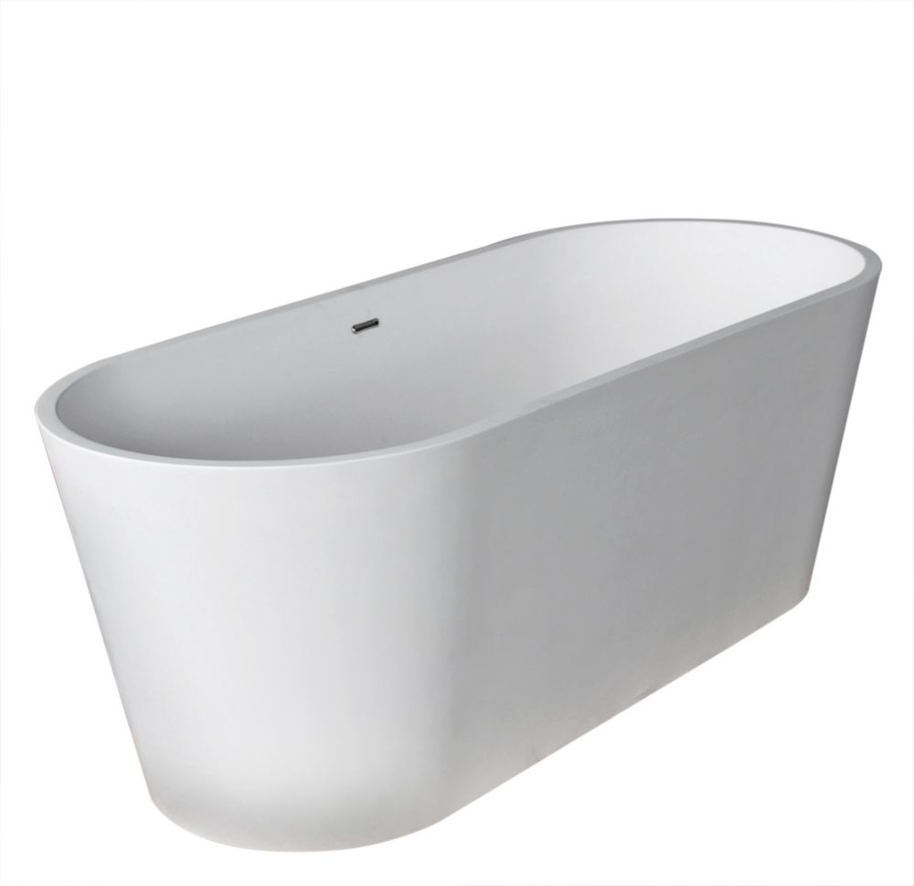 inch artificial stone freestanding bathtub the home depot canada