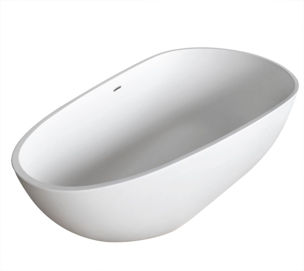 Ira Stone 5 Feet 6-Inch Artificial Stone Freestanding Bathtub