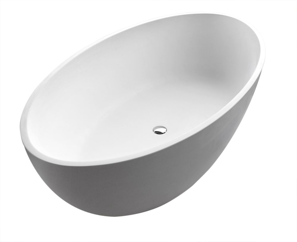 Choice Stone 5 Feet 6-Inch Artificial Stone Freestanding Bathtub