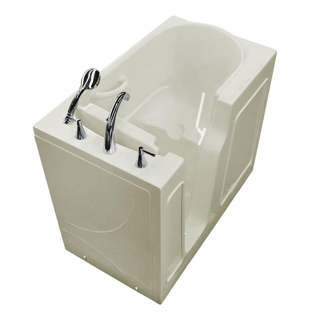 3 Feet 10-Inch Walk-In Non Whirlpool Bathtub in Biscuit