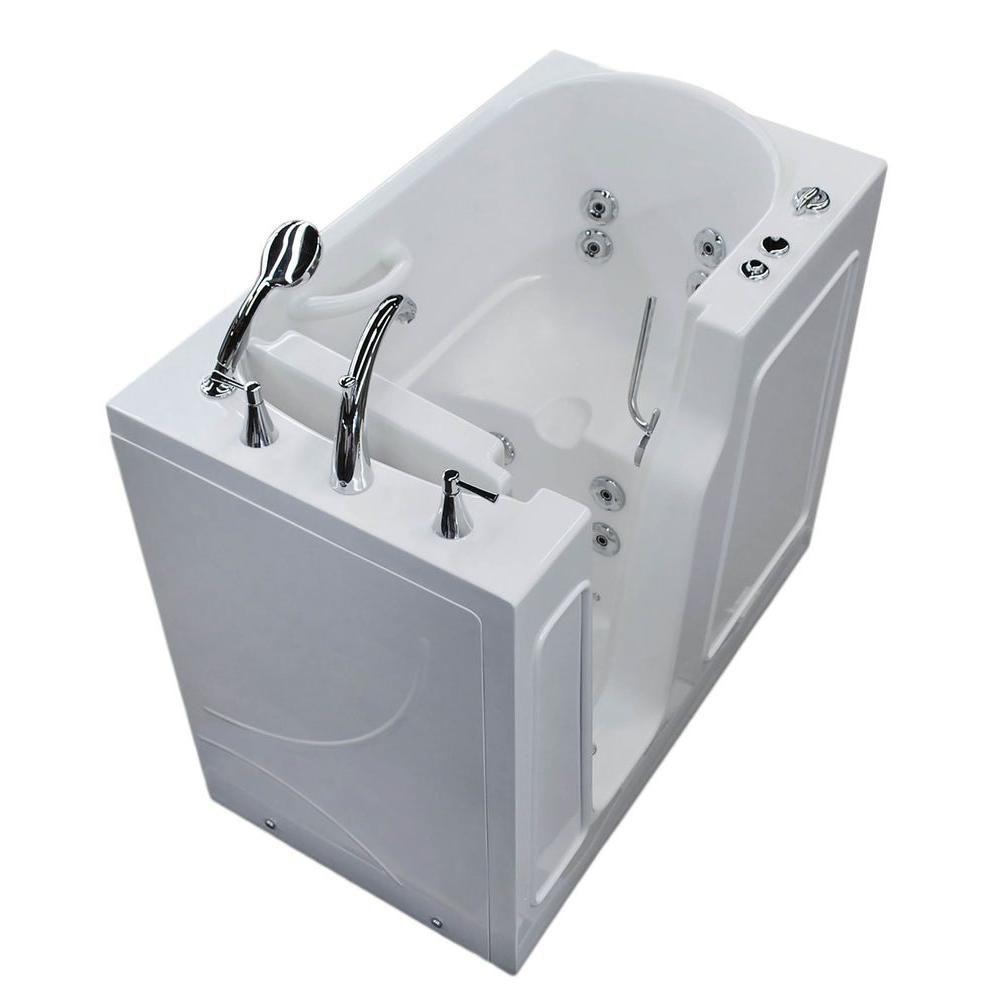 3 Feet 10-Inch Walk-In Whirlpool Bathtub in White
