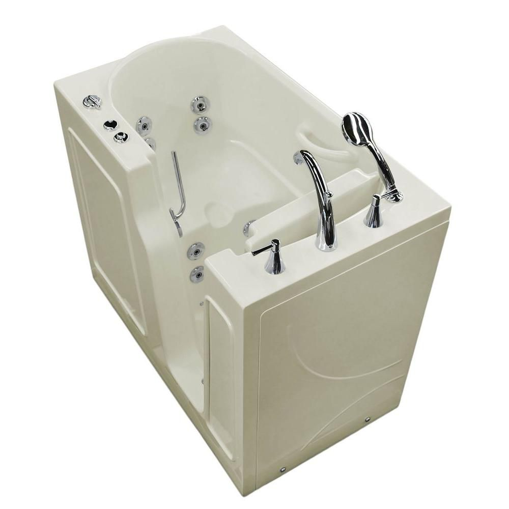 3 Feet 10-Inch Walk-In Whirlpool Bathtub in Biscuit