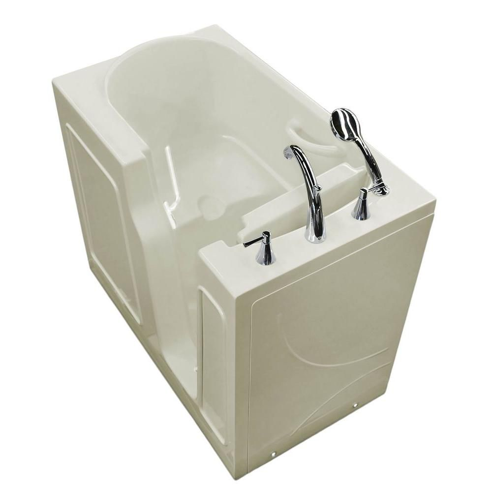 3 Feet 10-Inch Walk-In Non Whirlpool Bathtub in Biscuit